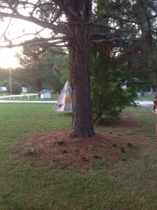 Our teepee.