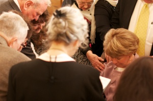 Laying on of hands when an Elder is ordained